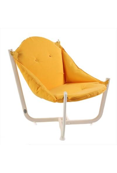 İnter System Sun & Beach Koltuk Beyaz Ayak ve Sarıj Minderli Rahat ve Yumuşak