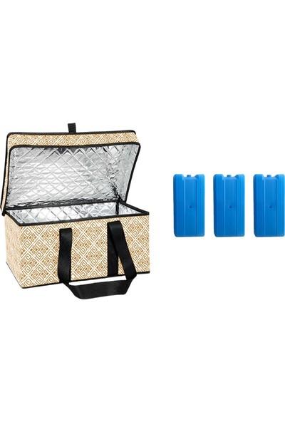 Cmk Thermo Çok Amaçlı Piknik Çantası 3 Adet Buz Aküsü Turuncu
