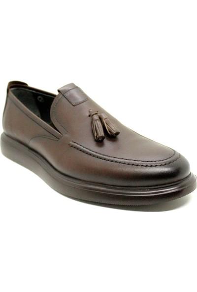 Pabucchi 1398 Erkek Deri Püsküllü Kahverengi Günlük Ayakkabı