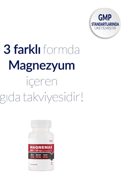 Smart Caps Magnemax Magnezyum Mgt 30 Tablet