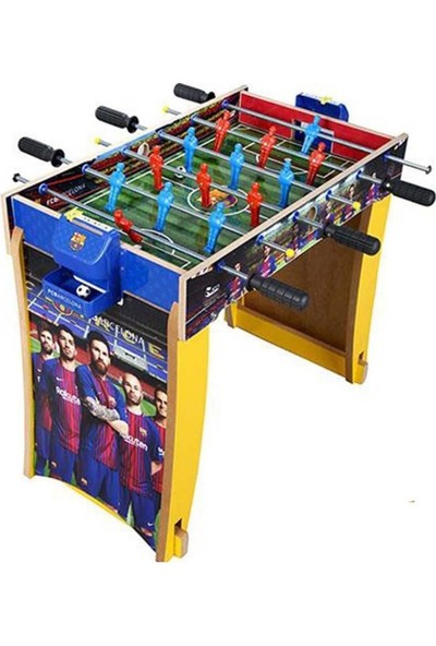 Barcelona Süper Masa Maçı Ahşap Ayaklı Langırt FC804