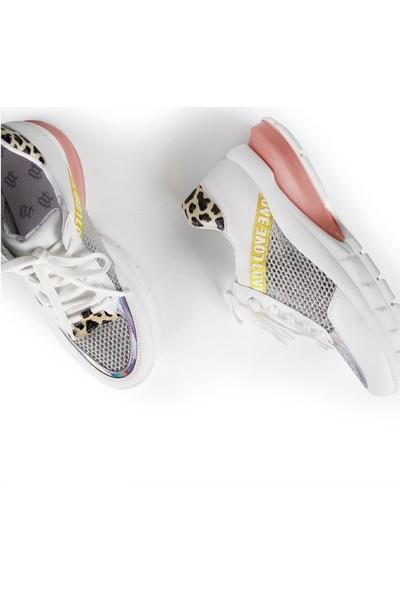 Gökhan Talay File Detaylı Gümüş Kadın Sneaker