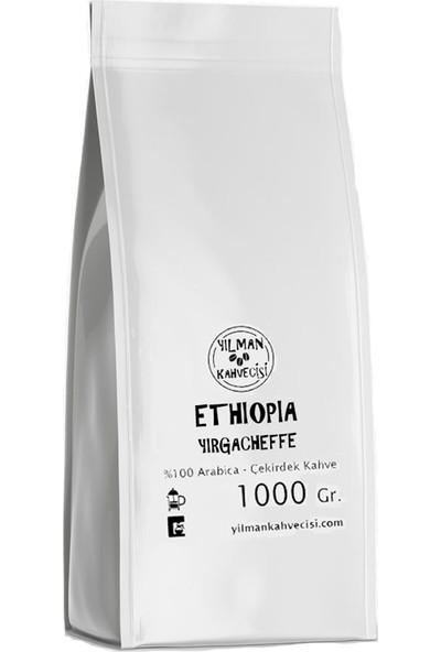 Yılman Kahvecisi Ethiopia Yırgacheffe Arabica Filtre Kahve Taze Kavrulmuş Yöresel Çekirdek 1000 Gram