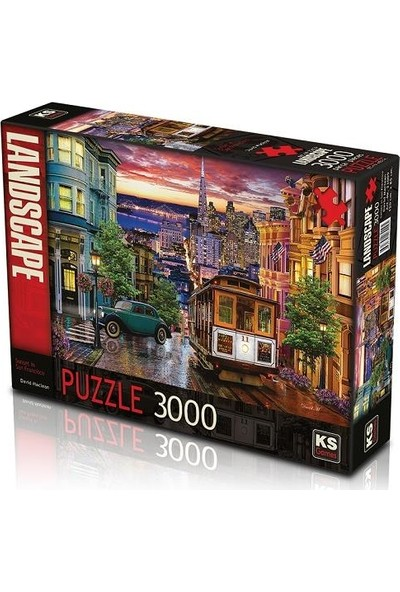 Ks Puzzle 23009 Sunset In San Francisco 3000 Parça