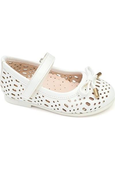 Sanbe 309 F 207 21-25 Babet Ayakkabı-Beyaz