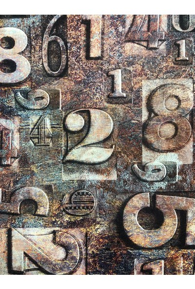 Wall 212 Genç Odası Sayı Desen Duvar Kağıdı 5m²