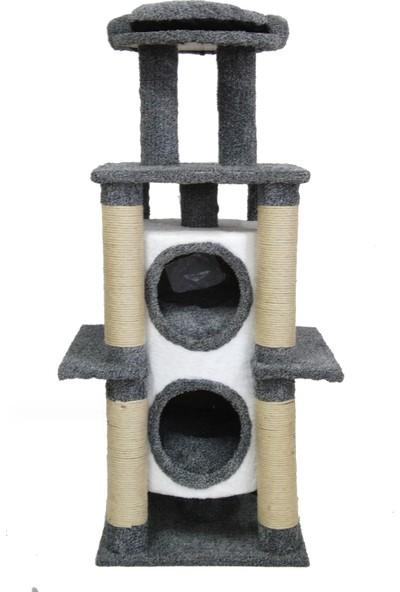 Tower Lüks Kedi Evi ve Tırmalama Gri 88X50X152 cm
