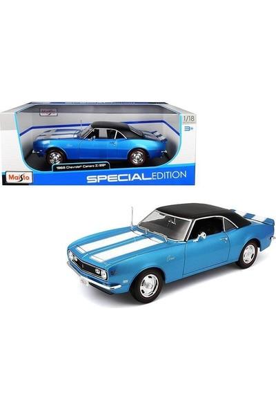 Maisto 1968 Chevrolet Camaro Z/28 Mavi 1:18 Model Araba