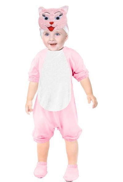 Oulabimir Kısa Kollu Bebek Pamuklu Kedi Kostümü Tulumu