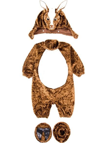 Oulabimir Uzun Kollu Bebek Kadife Geyik Kostümü Tulumu