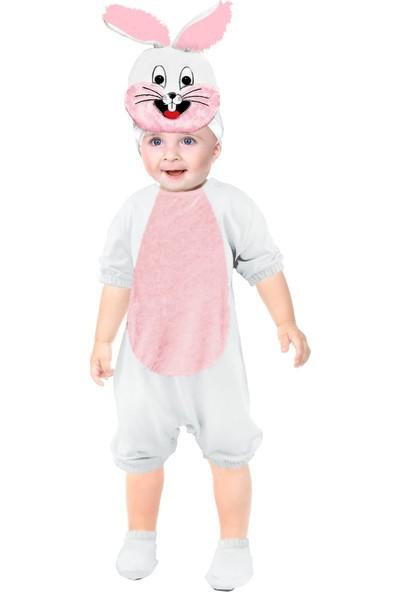 Oulabimir Kısa Kollu Bebek Pamuklu Tavşan Kostümü Tulumu
