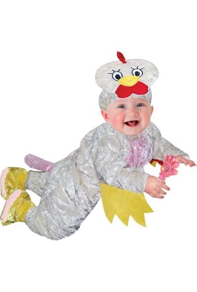Oulabimir Uzun Kollu Bebek Kadife Tavuk Kostümü Tulumu