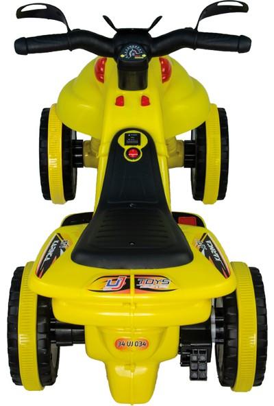 UJ Toys Akülü Atv 6 V Karınca 2020 Müzikli Işıklı Sarı