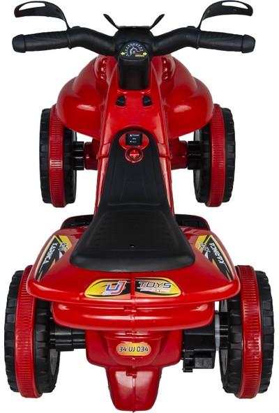 UJ Toys Akülü Atv 6 V Karınca 2020 Müzikli Işıklı Kırmızı