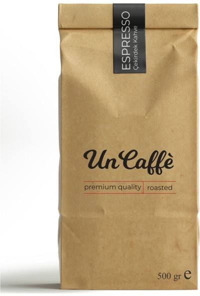 Un Caffe Espresso Arabica Çekirdek Kahve 500gr