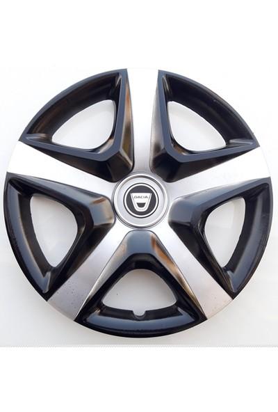 14'' İnç Dacia Jant Kapağı 4 Adet Çelik Jant Görünümlü Renkli Kırılmaz Esnek