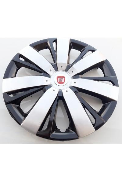 14'' İnç Fiat Jant Kapağı 4 Adet Çelik Jant Görünümlü Renkli Kırılmaz Esnek