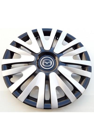 14'' İnç Mazda Jant Kapağı 4 Adet Çelik Jant Görünümlü Renkli Kırılmaz Esnek