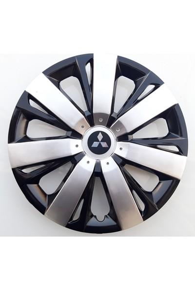 14'' İnç Mitsubishi Jant Kapağı 4 Adet Çelik Jant Görünümlü Renkli Kırılmaz Esnek