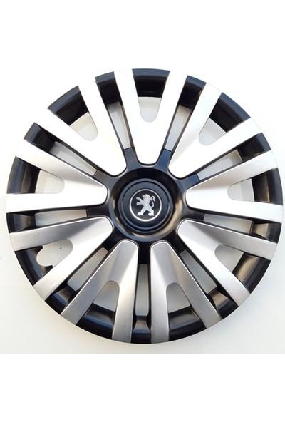 14'' İnç Peugeot Jant Kapağı 4 Adet Çelik Jant Görünümlü Renkli Kırılmaz Esnek