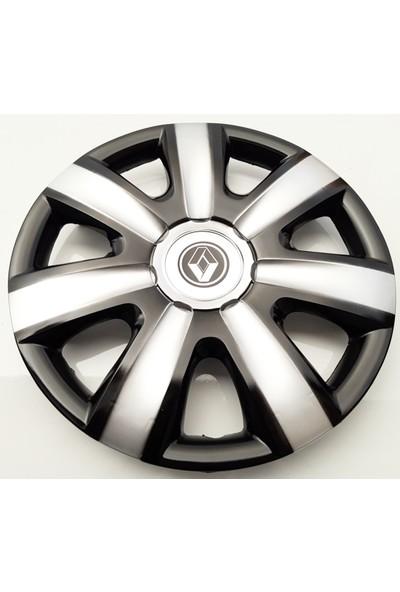 14'' İnç Renault Jant Kapağı 4 Adet Çelik Jant Görünümlü Renkli Kırılmaz Esnek