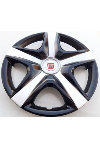 15'' İnç Fiat Jant Kapağı 4 Adet Çelik Jant Görünümlü Renkli Kırılmaz Esnek