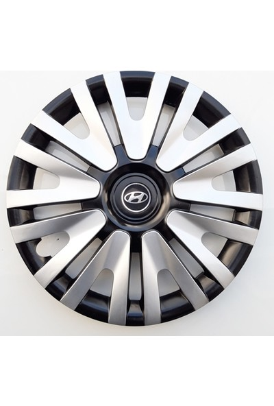 15'' İnç Hyundai Jant Kapağı 4 Adet Çelik Jant Görünümlü Renkli Kırılmaz Esnek