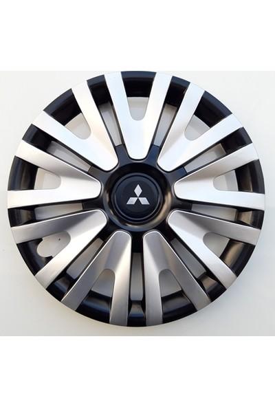15'' İnç Mitsubishi Jant Kapağı 4 Adet Çelik Jant Görünümlü Renkli Kırılmaz Esnek