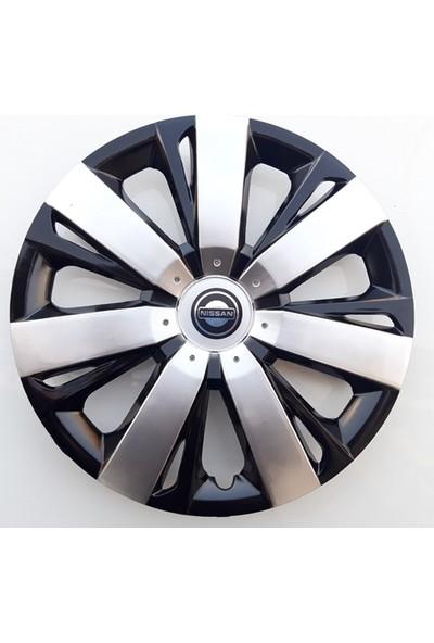 15'' İnç Nissan Jant Kapağı 4 Adet Çelik Jant Görünümlü Renkli Kırılmaz Esnek