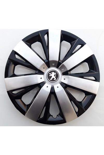 15'' İnç Peugeot Jant Kapağı 4 Adet Çelik Jant Görünümlü Renkli Kırılmaz Esnek
