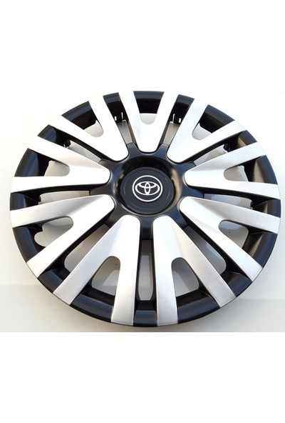 15'' İnç Toyota Jant Kapağı 4 Adet Çelik Jant Görünümlü Renkli Kırılmaz Esnek