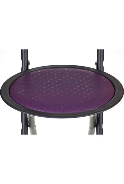 Hastunç Katlanır Sandalye (Siyah-Mor)