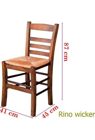 Bahçeci Rino Sandalye (Hasır Oturum)