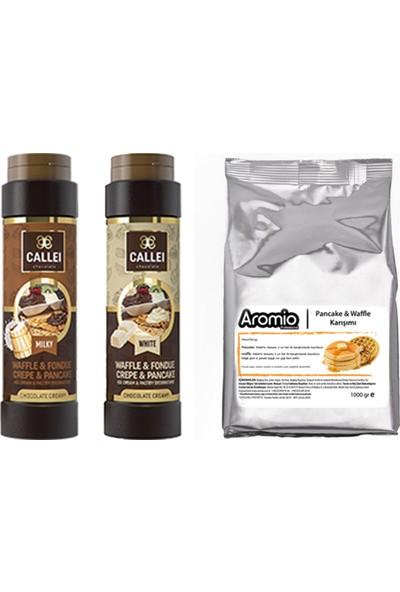Aromio Waffle ve Pankek Için Çikolata Karışım Paketi 1 kg