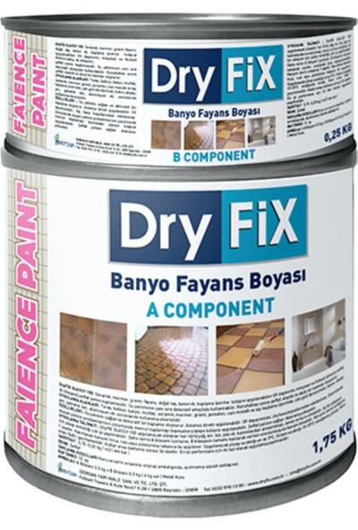 Dryfix Faince Paint 2 kg Fayans Seramik Mermer Boyası Beyaz Parlak