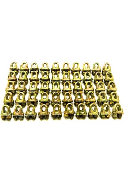 Emek Çelik Halat Galvanizli A Tipi Klemens Kerye 10 mm Ölçüsünde 50 Adet