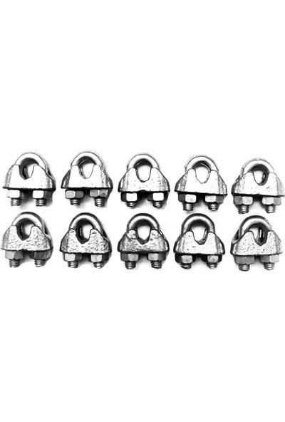 Emek Çelik Halat Galvanizli DIN 741 Klemens Kerye 5 mm 10 Adet