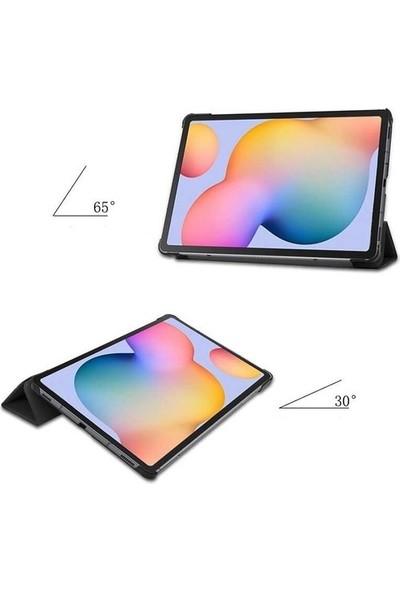 Ceplab Samsung Galaxy Tab A7 T500 Kılıf 10.4 Inç Lüx Smart Cover Kılıf + Dokunmatik Kalem