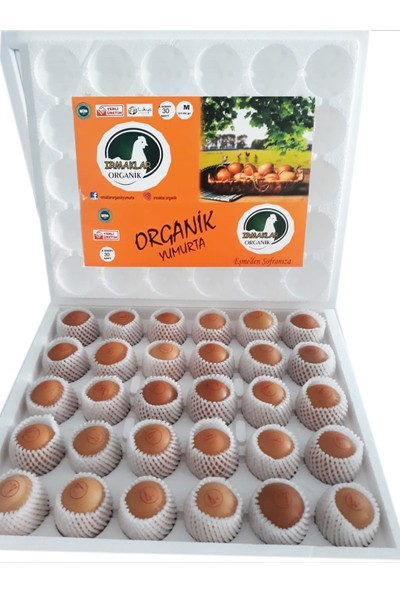 IRMAKLAR ORGANİK YUMURTA 60'lı Orta Boy Yumurta ( 53 - 62 Gr)