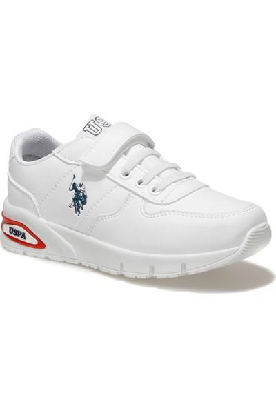 U.S. Polo Assn. Polly Beyaz Erkek Çocuk Sneaker Ayakkabı