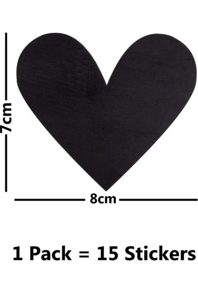 Harika Crown Stiker Ahşap Kalp Tasarımı S859