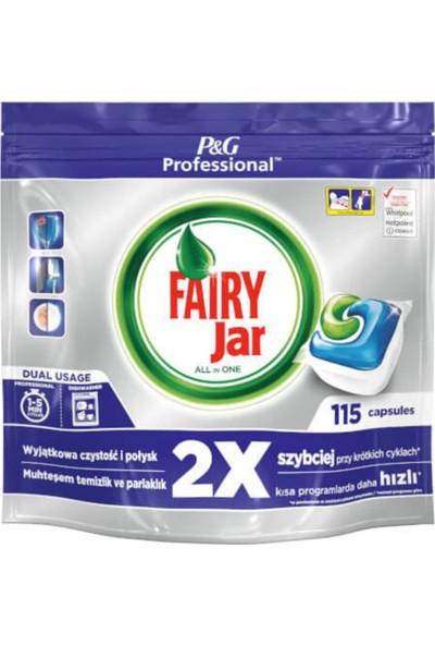 Fairy Professional Jar Hepsi Bir Arada Bulaşık Makinesi Kapsülü 115'li