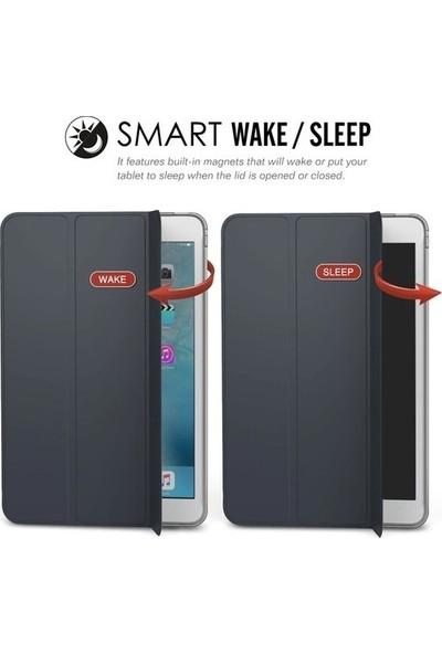 CepArea Samsung Galaxy Tab 4 7.0 T230 Smart Cover Standlı 1-1 Kılıf Siyah