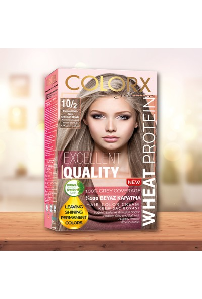 Colorx Set Saç Boyası-10.2-Ekstra Küllü Açık Sarı
