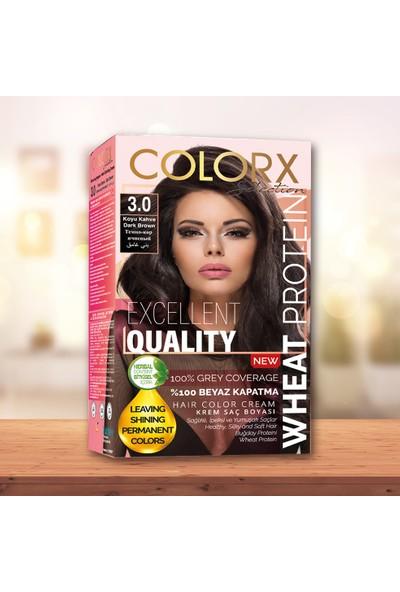 Colorx Set Saç Boyası-3.0-Koyu Kahve