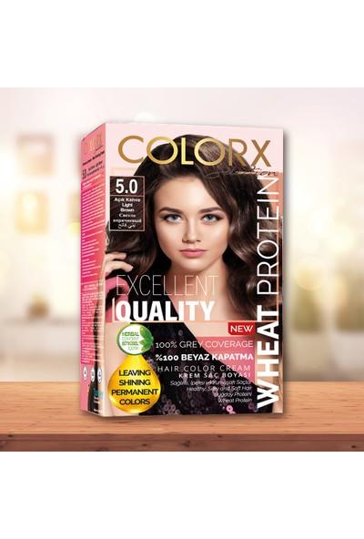 Colorx Set Saç Boyası-5.0-Açık Kahve