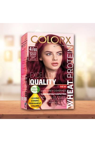 Colorx Set Saç Boyası-4.65-Şarap Kızılı