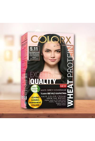 Colorx Set Saç Boyası-5.11-Koyu Zeytin Kumral