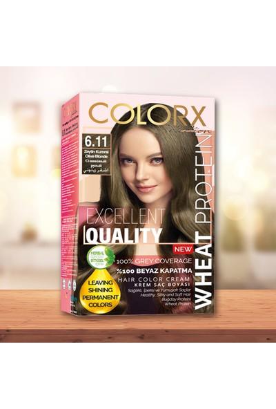 Colorx Set Saç Boyası-6.11-Zeytin Kumral
