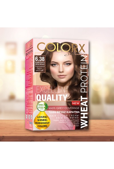 Colorx Set Saç Boyası-6.38-Kadife Kahve